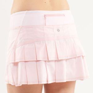 Lululemon RARE Shimmer Pink Pace Setter Skirt 8